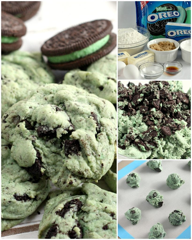 Step-by-step photos and instructions on how to make Mint Oreo Pudding Cookies.