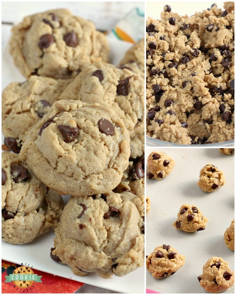Step-by-step photos on how to make Peanut Butter Oatmeal Chocolate Chip Cookies.