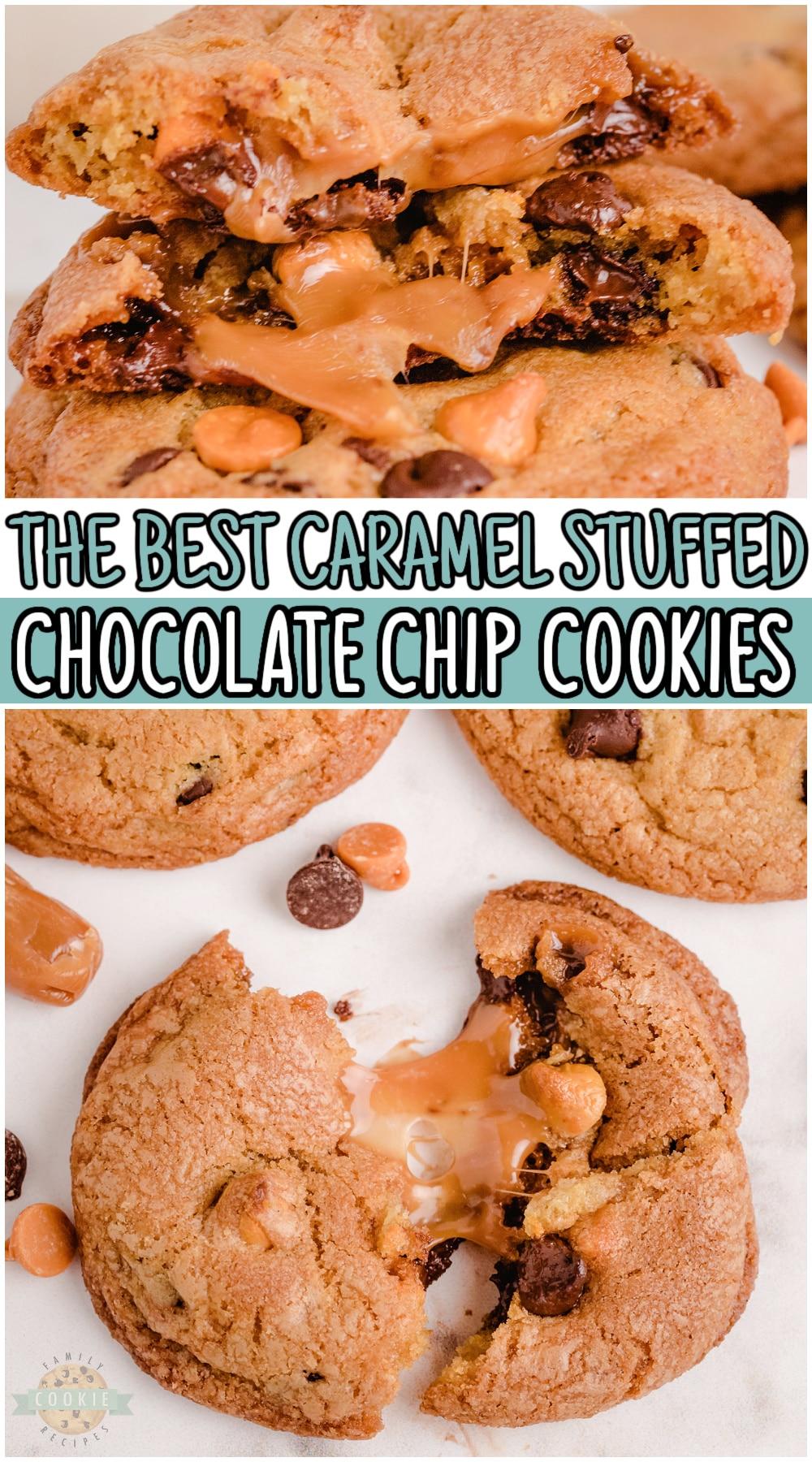 CARAMEL STUFFED CHOCOLATE CHIP COOKIES via @buttergirls