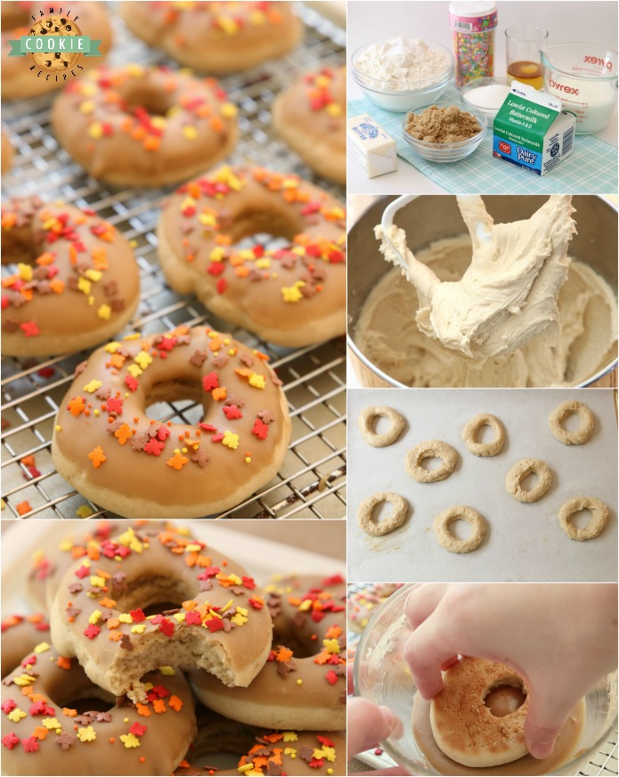 Maple Donut Cookies are soft & pillowy donut-shaped cookies with a lovely maple glaze topping. Everything you love about maple donuts, only in cookie form!