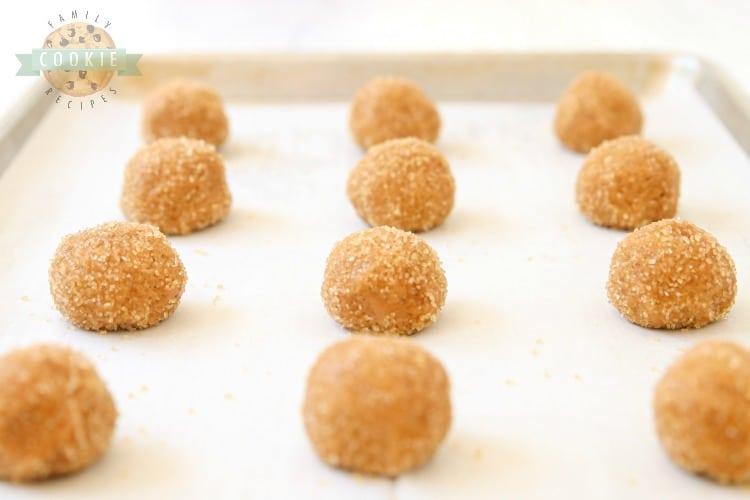 ginger molasses cookie dough balls