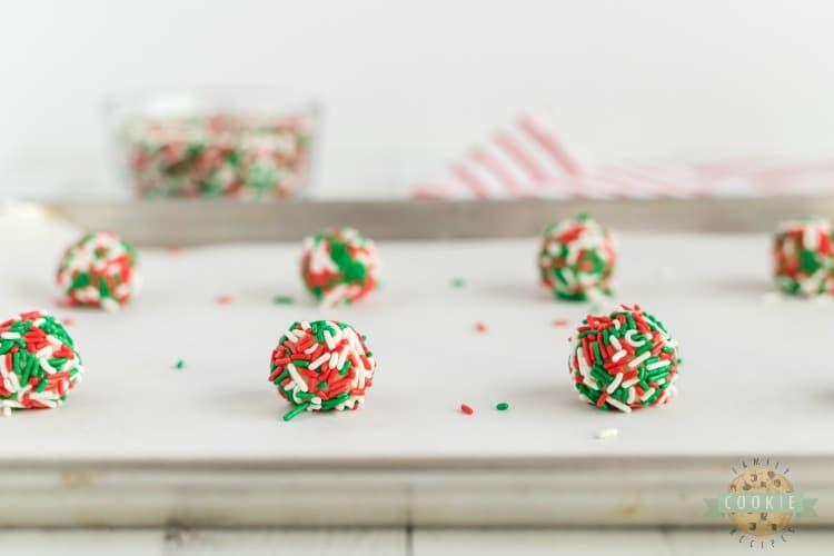 how to make Christmas Sprinkle Cookies