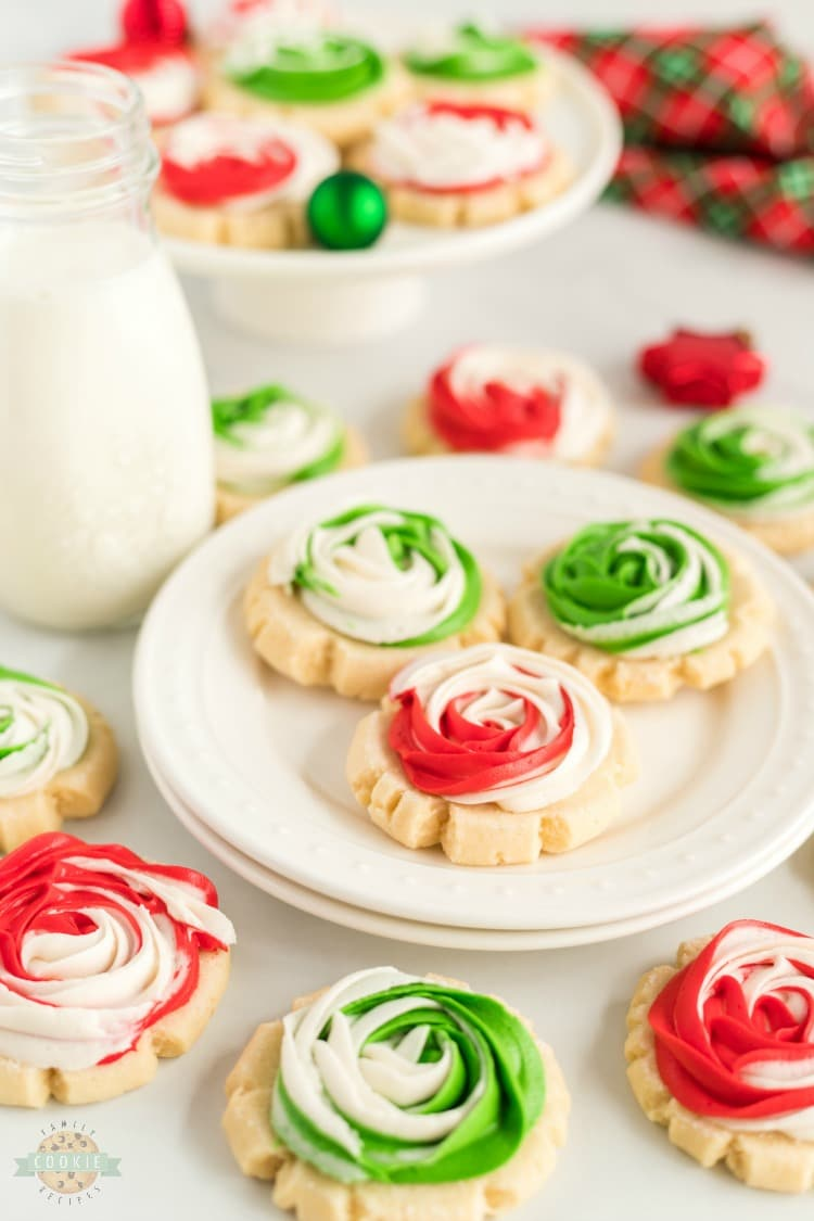 Christmas Rose Sugar Cookies