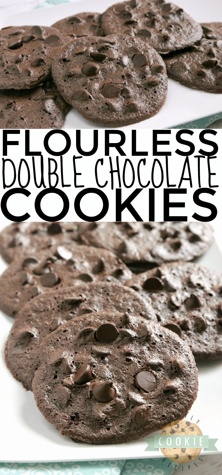 Flourless Double Chocolate Cookies are soft, fudgy and have absolutely no flour in them! The perfect flourless cookie recipe, whether you need a gluten-free cookie or even if you just don't have any flour on hand! via @buttergirls