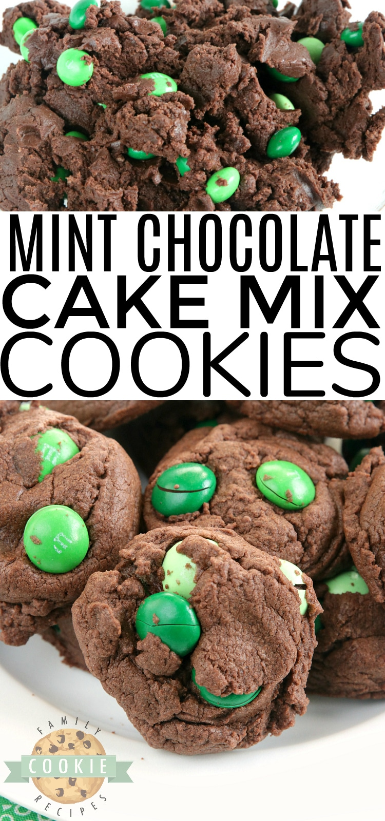 Mint Chocolate Cake Mix cookies are soft, chewy and made with only 4 ingredients! So easy to make these deliciously mint and chocolate flavored cake mix cookies. via @buttergirls
