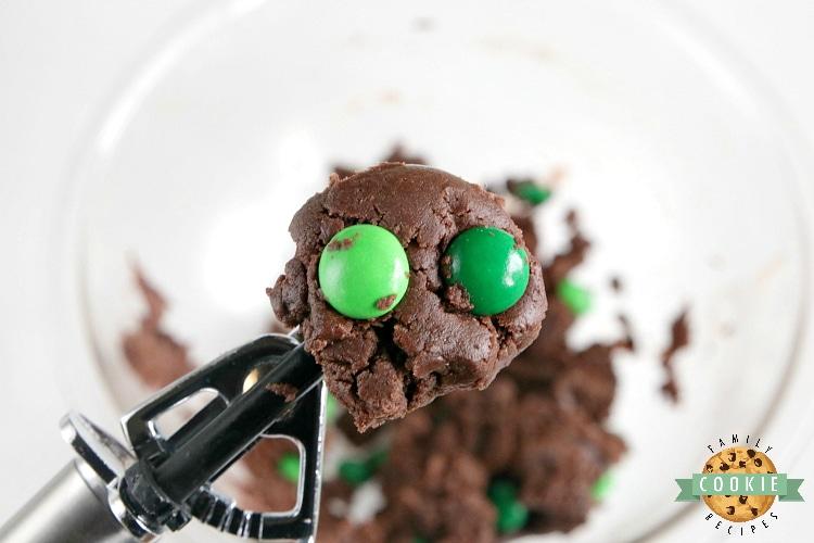 Scoop of cake mix cookie dough