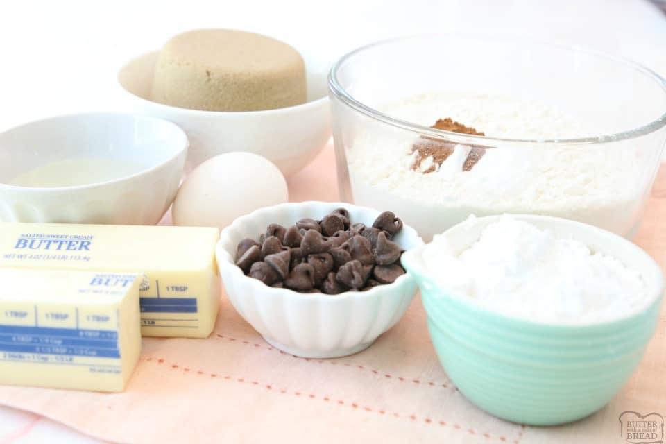 ingredients for Cinnamon Chocolate Crinkle Cookies recipe