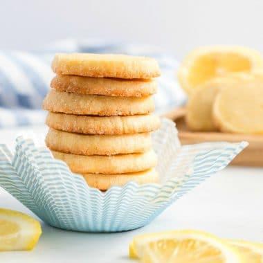 Lemon Slice and Bake Shortbread Cookies