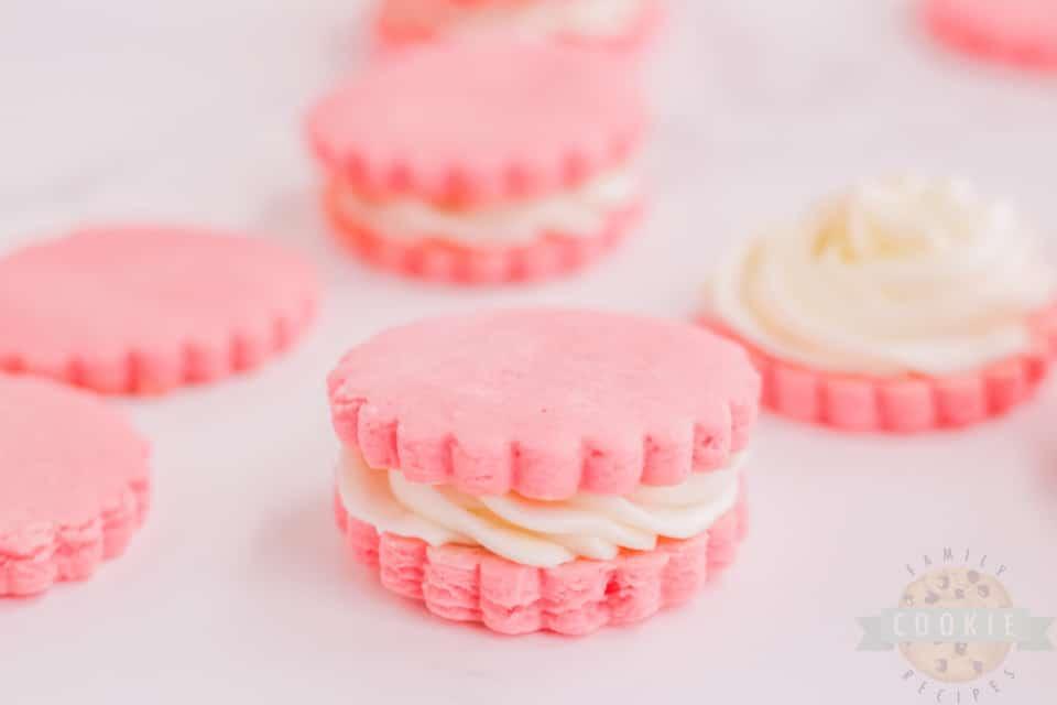 Pink Sandwich Cookie recipe