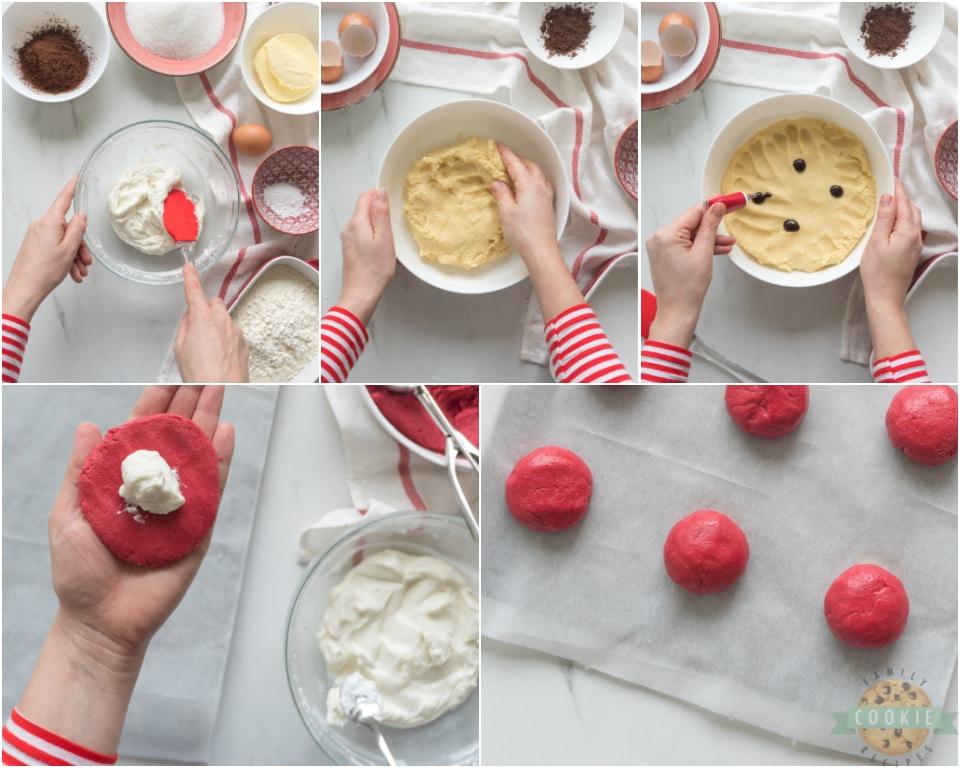 how to make Cream Cheese Red Velvet Cookie recipe