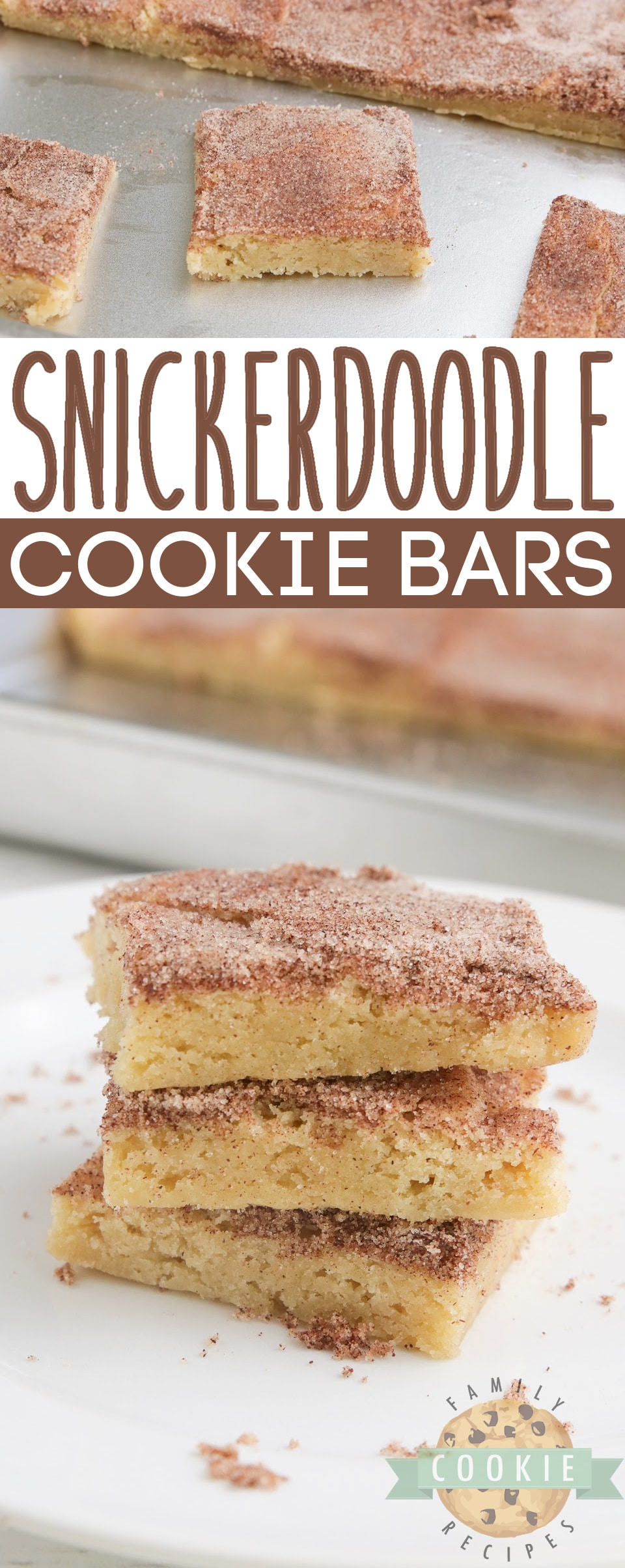 Snickerdoodle Cookie Bars are soft, delicious and packed with that cinnamon flavor we all love! Simple snickerdoodle recipe that is made in a sheet pan and can be easily sliced and served. via @buttergirls
