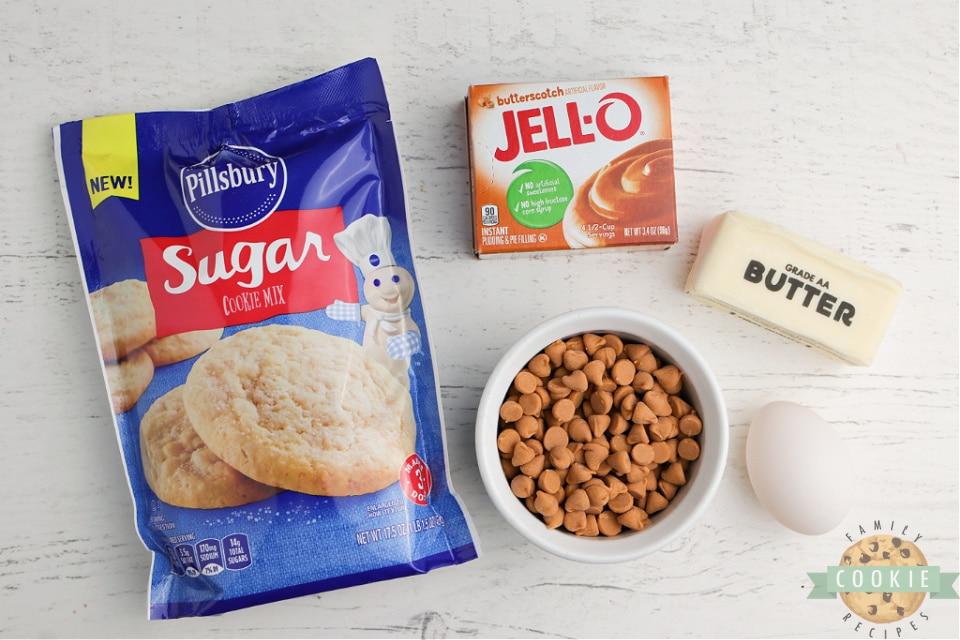 Ingredients in Easy Butterscotch Cookies