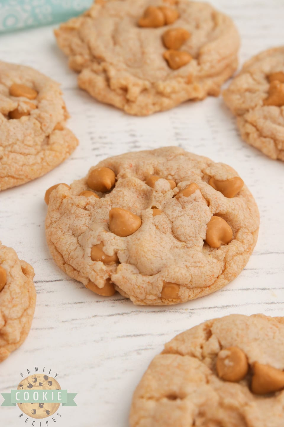 Butterscotch cookies made with a cookie mix and butterscotch pudding
