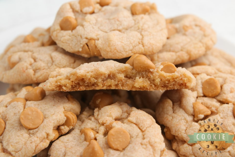 Easy Butterscotch Cookies made with a sugar cookie mix and butterscotch pudding. Only 5 ingredients needed for these delicious cookies that are soft, chewy and packed with tons of butterscotch flavor!