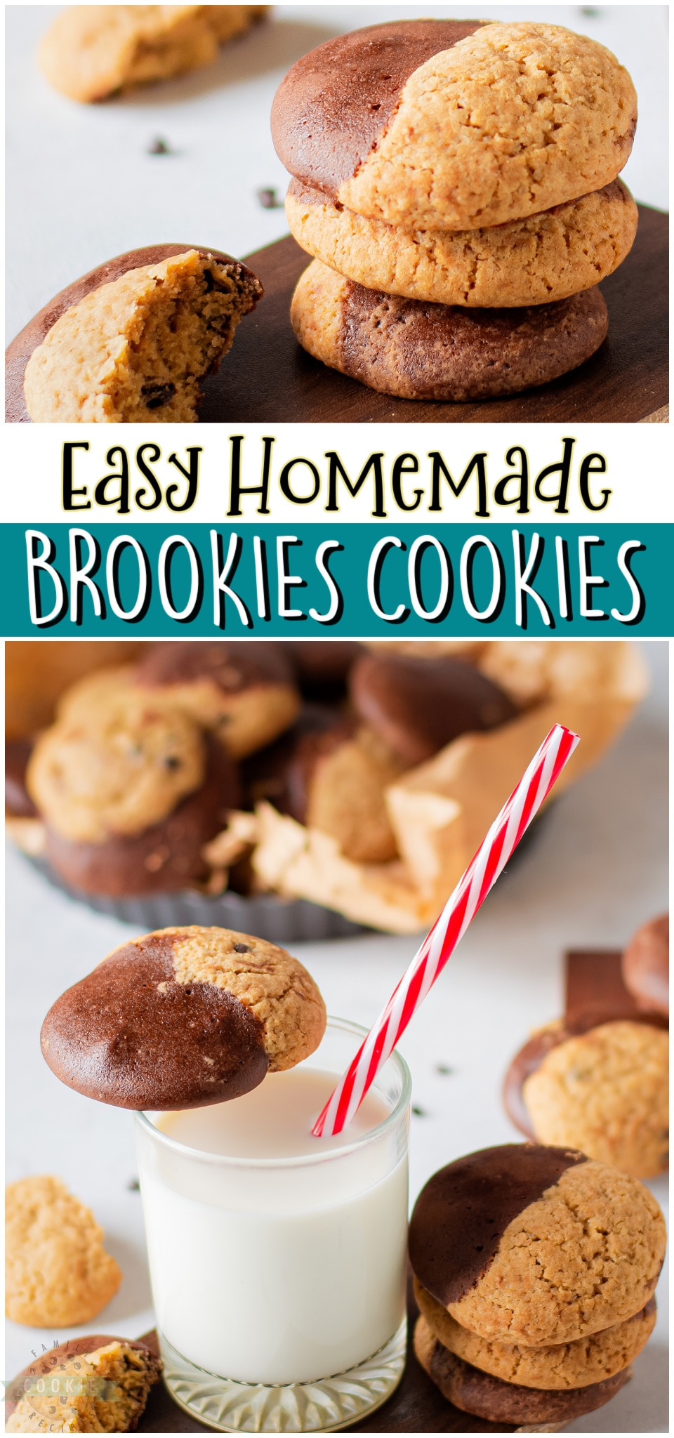 Brookies Cookies are the BEST combination of brownies & chocolate chip cookies! Homemade Brookies with great buttery, chocolate flavor for the perfect dessert! via @buttergirls