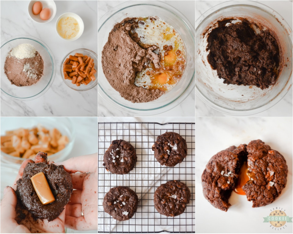 step by step photos on how to make chocolate brownie cookies