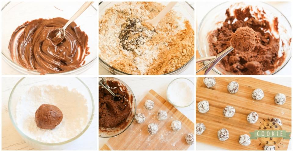 Step by step ingredients on how to make No Bake Chocolate Orange Cookies
