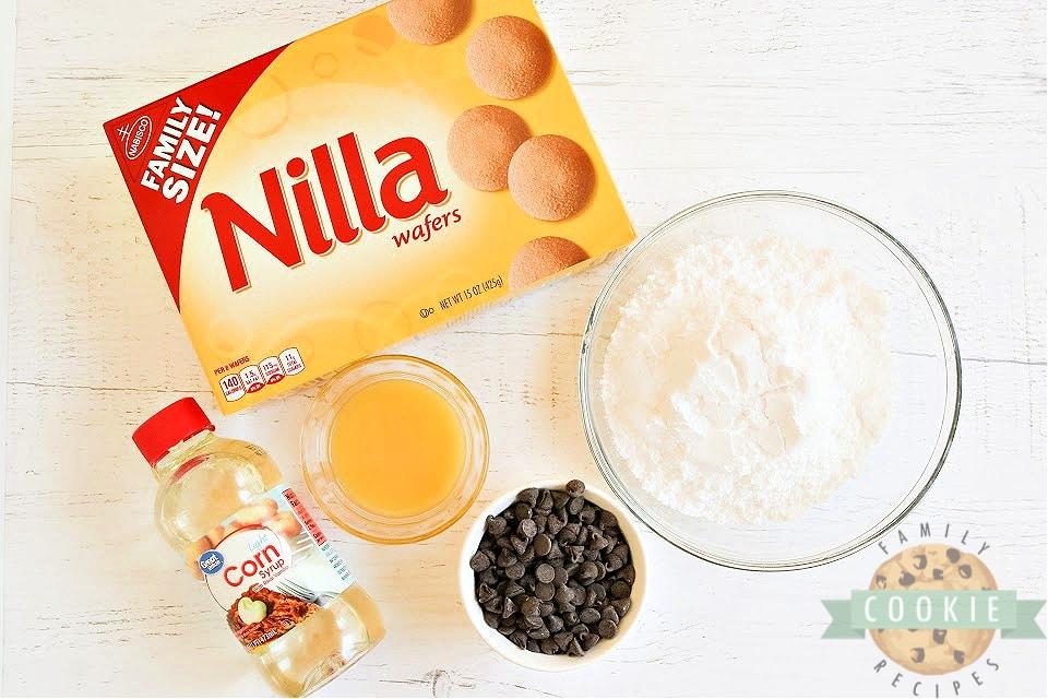 Ingredients in No Bake Chocolate Orange Cookies