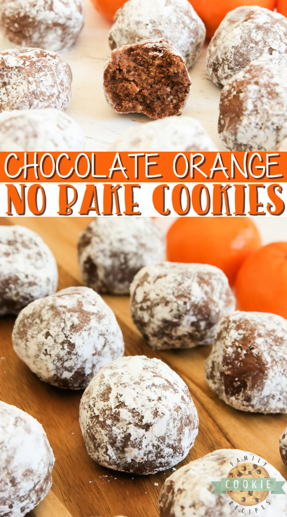 Chocolate Orange No Bake Cookies are made with only 5 ingredients in less than 5 minutes. Made with melted chocolate, crushed vanilla wafers and orange juice for a delicious no bake cookie recipe! via @buttergirls