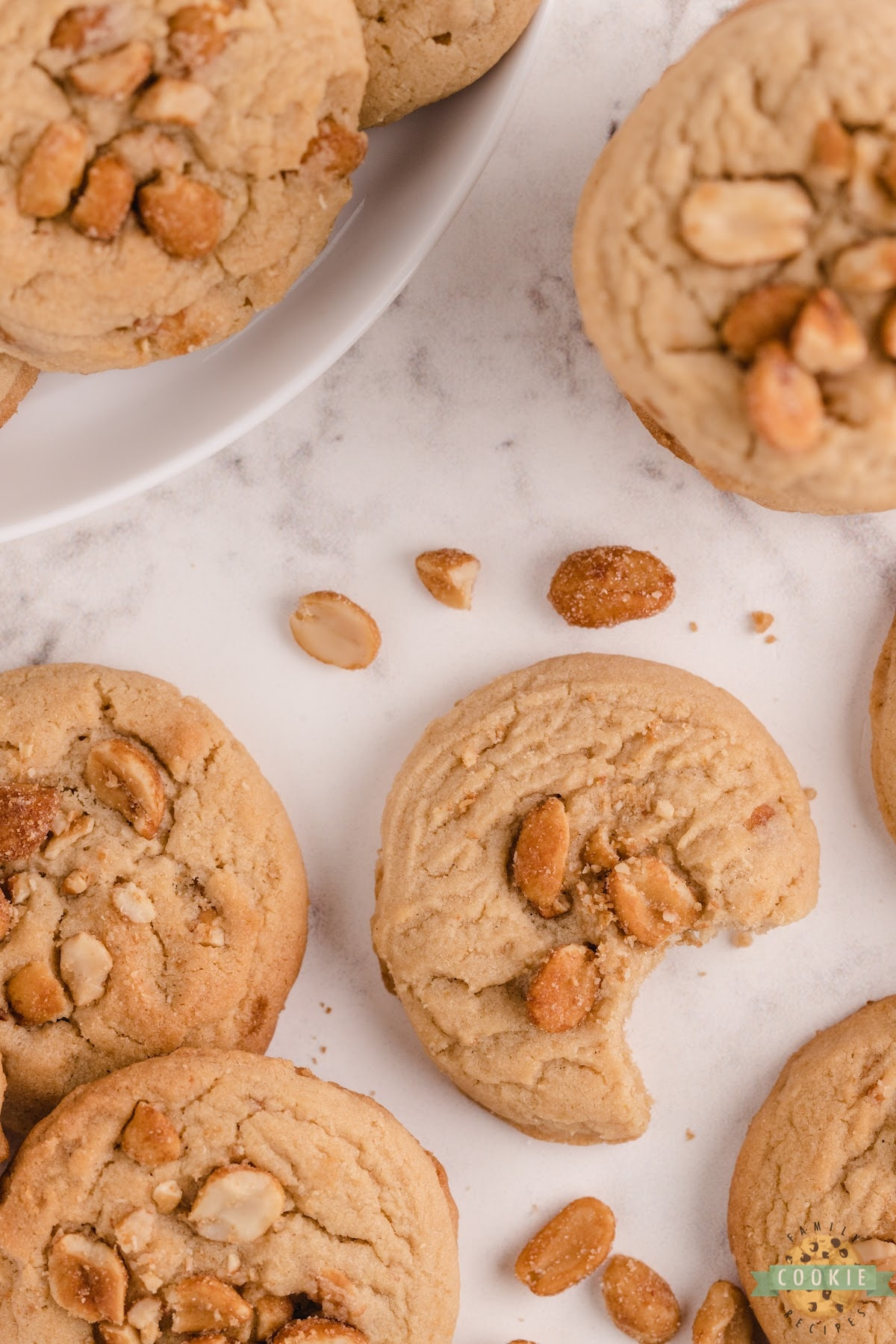 Peanut butter cookies with honey roasted peanuts